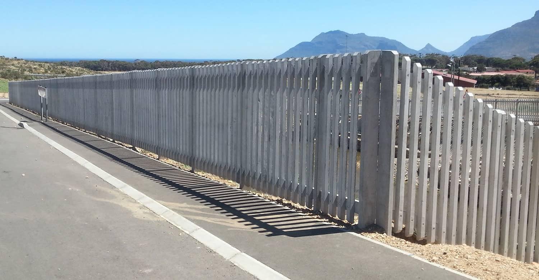 Western Cape Standard Concrete Palisade Fencing